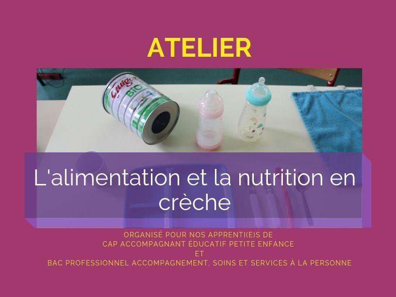 Atelier sur l'alimentation et la nutrition en crèche