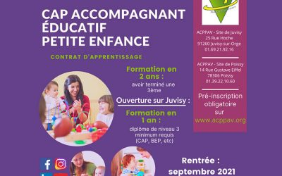 CAP AEPE en apprentissage : ouverture de la formation en 1 an à Juvisy