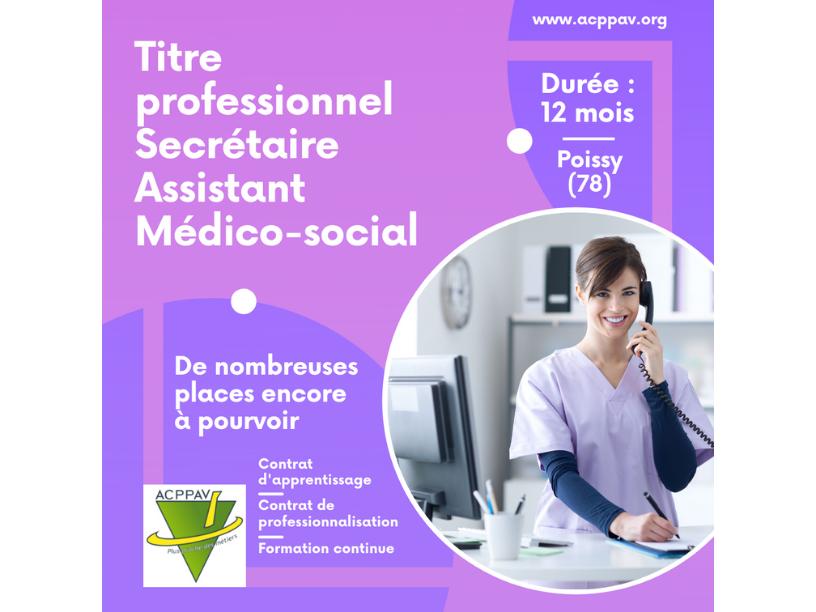 Formation Secrétaire Assistant Médico-Social : des places à pourvoir